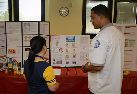 Employees at Captain James A. Lovell Federal Health Care Center participate in a 'Heart Failure Fair'. (Photo by Mass Communication Specialist 3rd Class Weston A. Mohr)