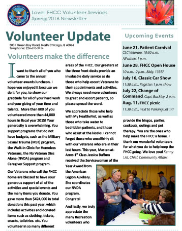 image of Volunteer Update Summer 2015