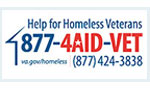 Help for Homeless Veterans 877-4AID-VET